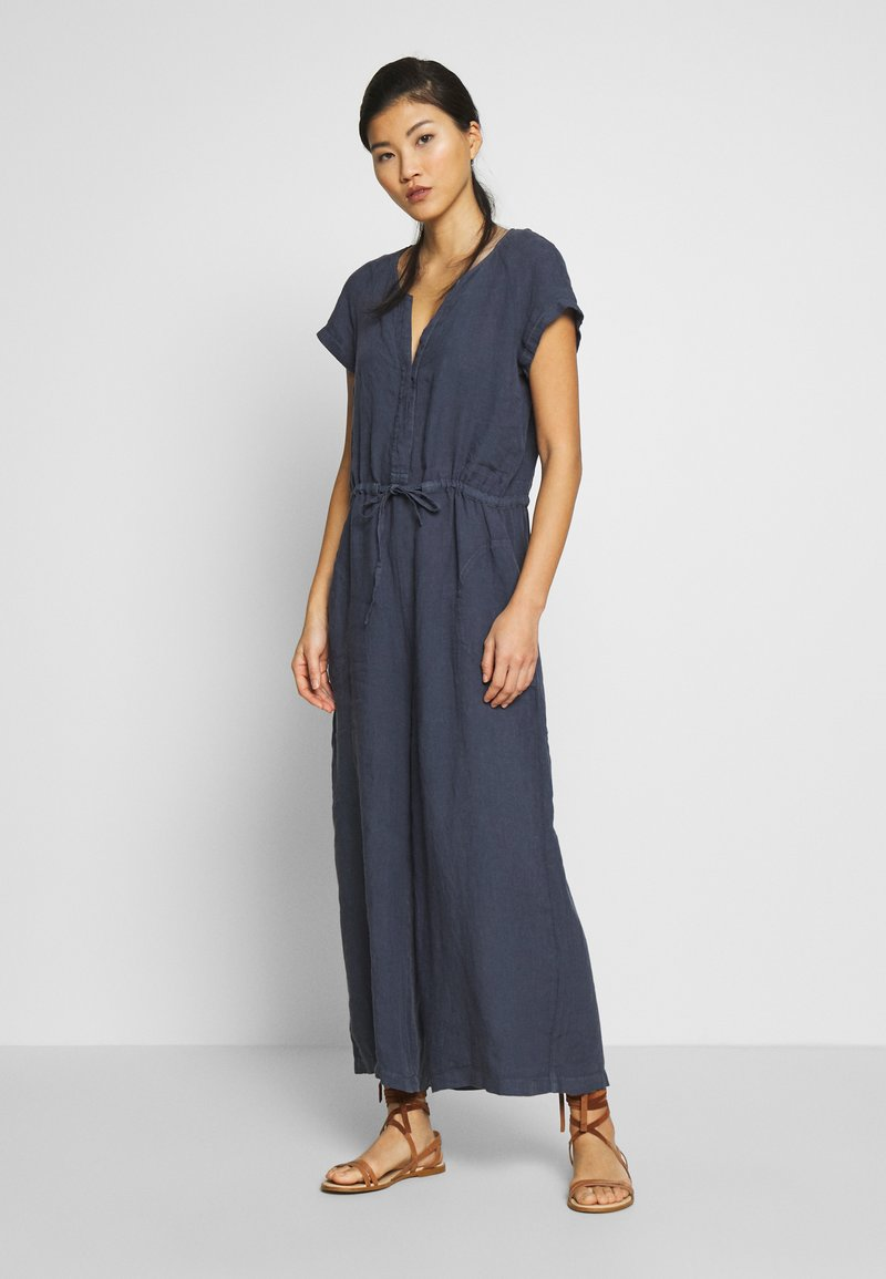Marc O'Polo - OVERALL SHORT SLEEVES COLDDYE - Jumpsuit - silent sea