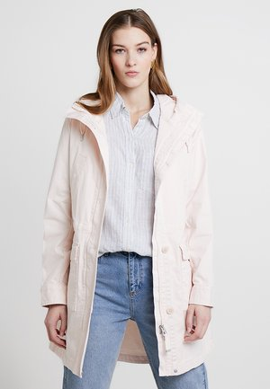 GARMENT DYED HOODED - Parka - rosewater