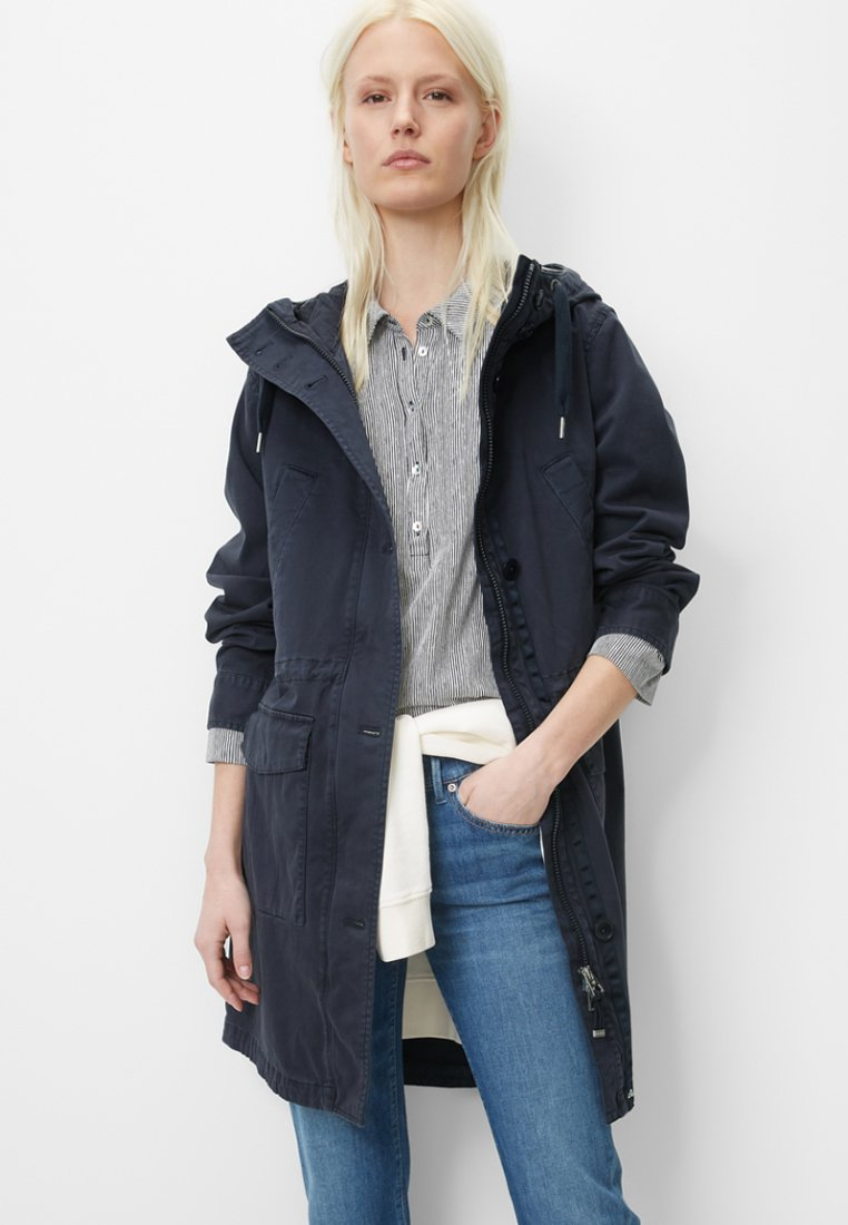 Marc O'Polo - GARMENT DYED HOODED - Parka - blue