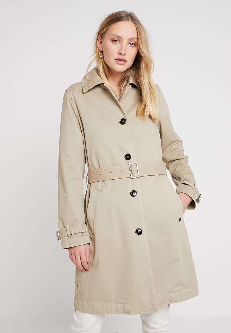 Marc O'Polo - GARMENT DYED SINGLE - Trenchcoat - teak