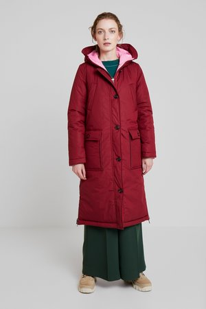 BIG PUFFER COAT PADDED REVERSIBLE - Zimní kabát - light beetroot