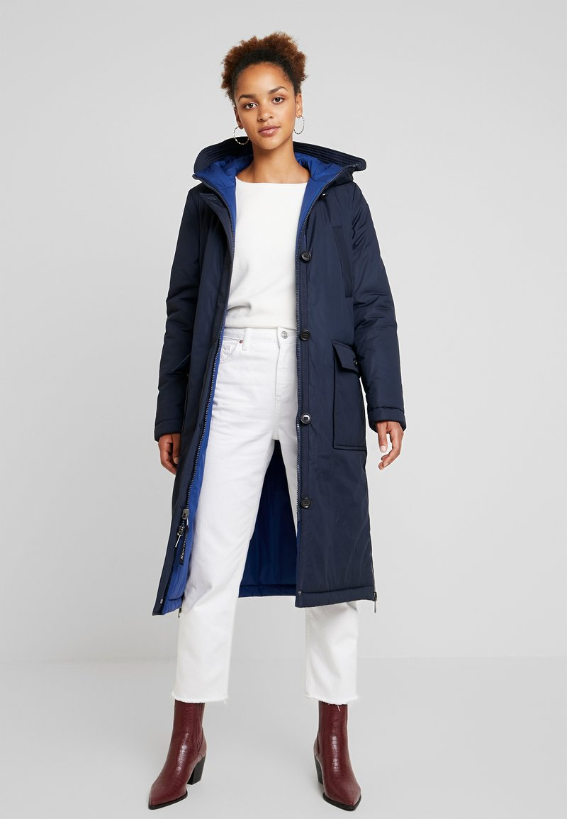 Marc O'Polo - BIG PUFFER COAT PADDED REVERSIBLE - Abrigo de invierno - midnight blue