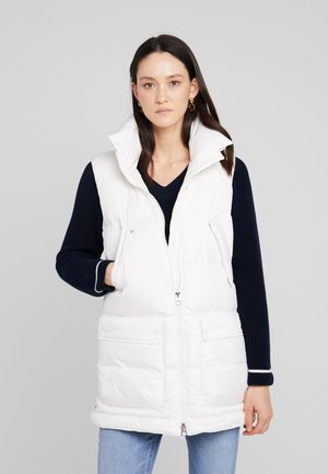 LONG VEST FILLED WITH REAL - Waistcoat - soft white