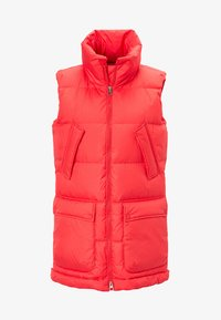Marc O'Polo - LONG VEST FILLED WITH REAL - Weste - red - 5