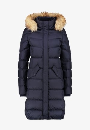 COAT LONG FILLED HOOD - Donsjas - midnight blue