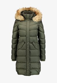 Marc O'Polo - COAT LONG FILLED HOOD - Donsjas - workers olive - 6
