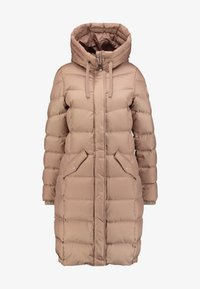 Marc O'Polo - COAT LONG FILLED FIX HOOD FLAP POCKETS CUFFS - Daunenmantel - tender fawn - 3