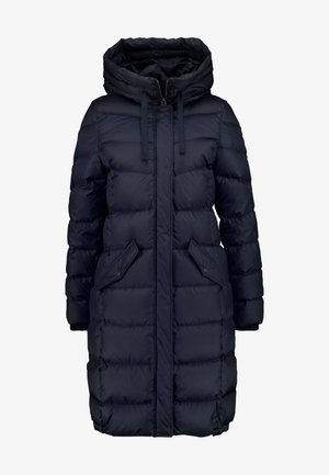 COAT LONG FILLED FIX HOOD FLAP POCKETS CUFFS - Płaszcz puchowy - midnight blue