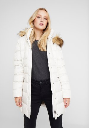 COAT FILLED - Down coat - birch white