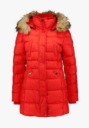 COAT FILLED - Down coat - cranberry red