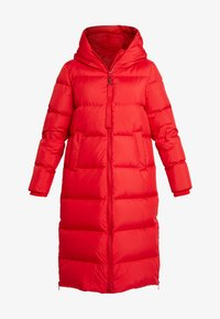 Marc O'Polo - BIG PUFFER COAT HOOD WELT POCKETS WITH HIDDEN PRESSBUTTO - Dunkåpe / -frakk - cranberry red - 6