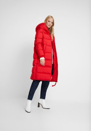 BIG PUFFER COAT HOOD WELT POCKETS WITH HIDDEN PRESSBUTTO - Down coat - cranberry red