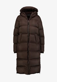 Marc O'Polo - BIG PUFFER COAT HOOD WELT POCKETS WITH HIDDEN PRESSBUTTO - Dunkåpe / -frakk - coffee bean - 5