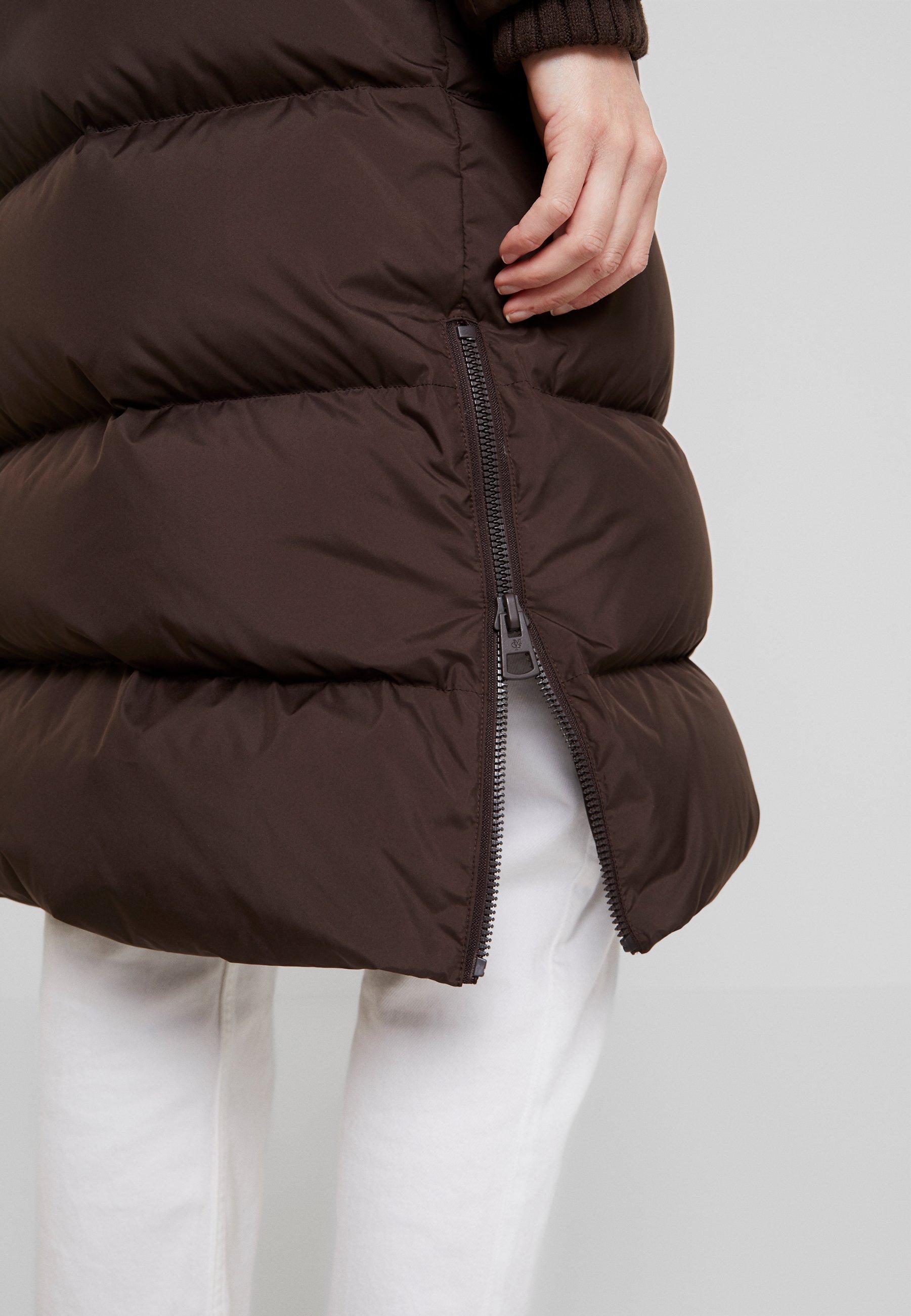 Marc O'polo Big Puffer Coat Hood Welt Pockets With Hidden Pressbutto - Dunkappa / -rock Coffee Bean