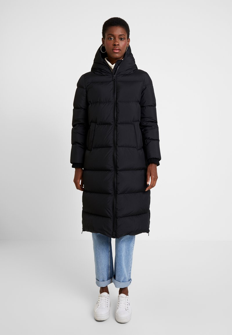 Marc O'Polo - BIG PUFFER COAT HOOD WELT POCKETS WITH HIDDEN PRESSBUTTO - Down coat - black
