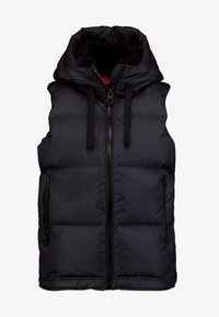 Marc O'Polo - VEST FIX HOOD FRONT ZIPPER POCKETS - Vest - black - 4