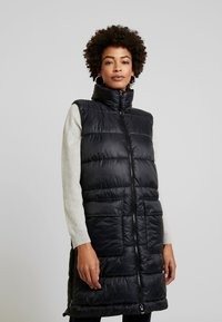 Marc O'Polo - OUTDOOR VEST LONG BODY LENGTH - Waistcoat - black - 0