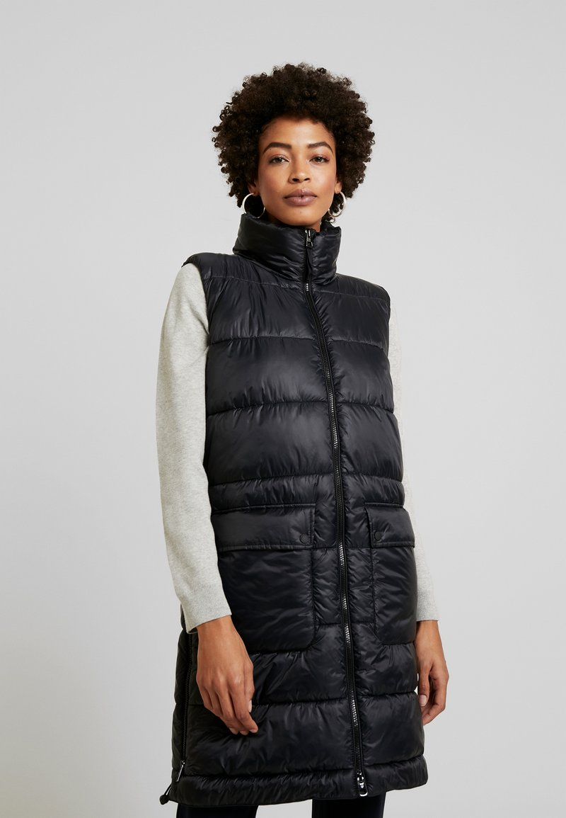 Marc O'Polo - OUTDOOR VEST LONG BODY LENGTH - Waistcoat - black
