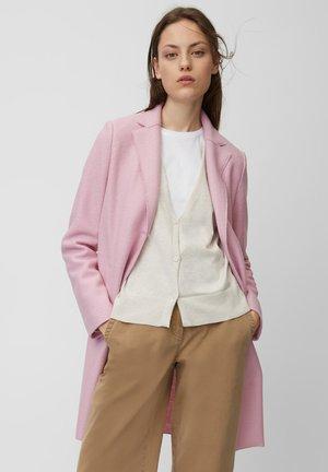 Classic coat - mottled light pink