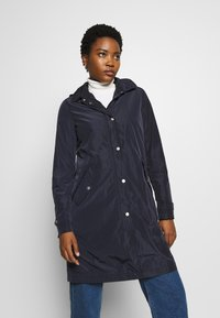 Marc O'Polo - COAT TURN DOWN COLLAR DETACHABLE HOOD PRESSBUTTONS FRONT - Parka - night sky - 0