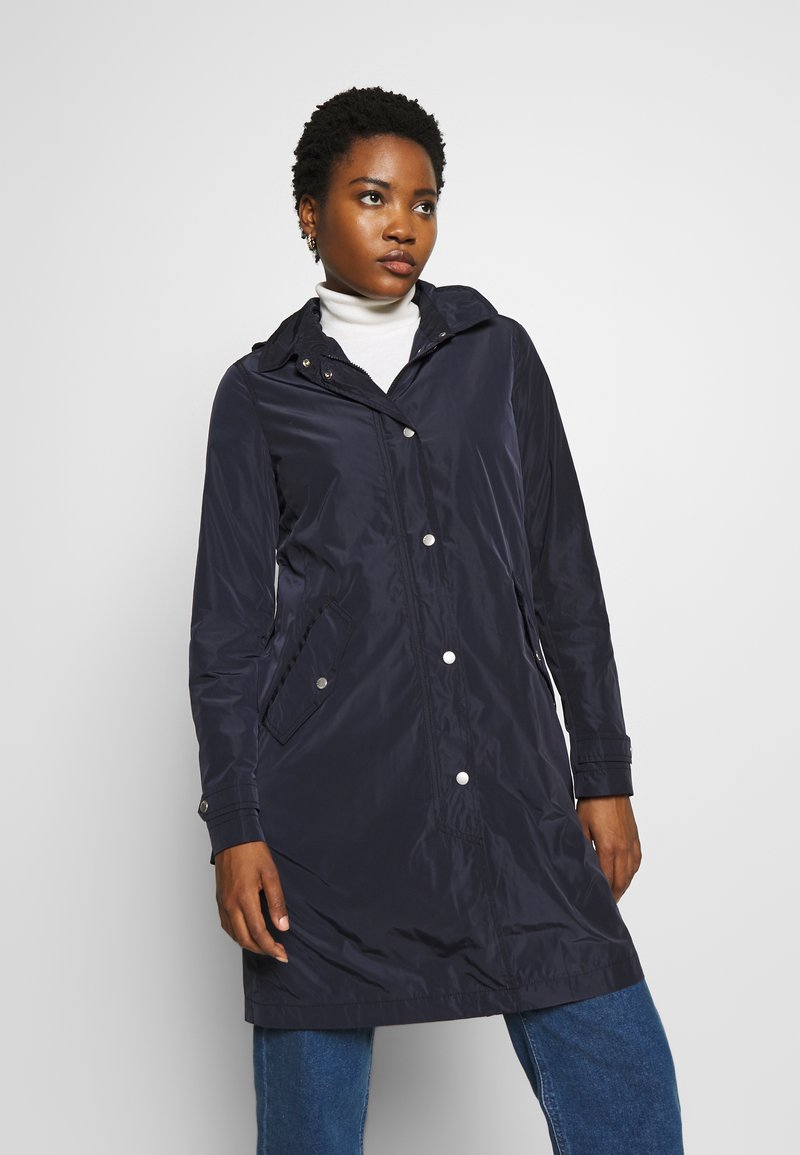 Marc O'Polo - COAT TURN DOWN COLLAR DETACHABLE HOOD PRESSBUTTONS FRONT - Parka - night sky