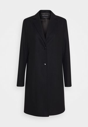 COAT WITH REVERS SINGLE BREASTED WELT POCKETS - Kåpe / frakk - black