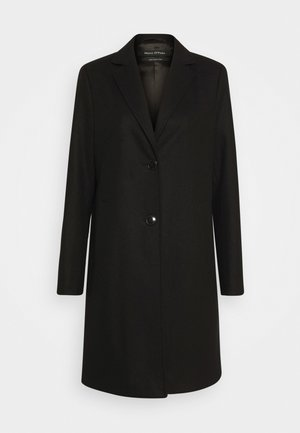 COAT WITH REVERS SINGLE BREASTED WELT POCKETS - Manteau classique - black