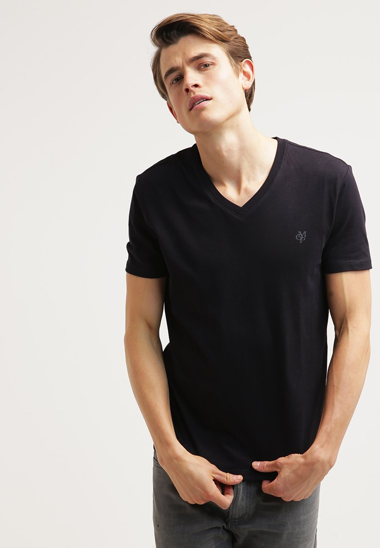 Marc O'Polo - SCOTT SHAPED FIT - T-Shirt basic - black