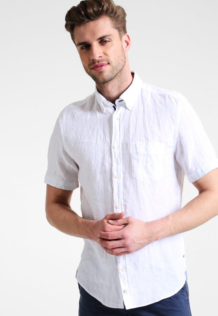 Marc O'Polo - BUTTON DOWN SHORT SLEEVE - Shirt - white