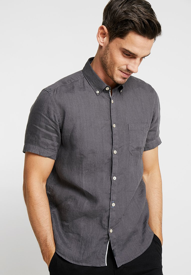 Marc O'Polo - BUTTON DOWN SHORT SLEEVE - Hemd - gray pinstripe