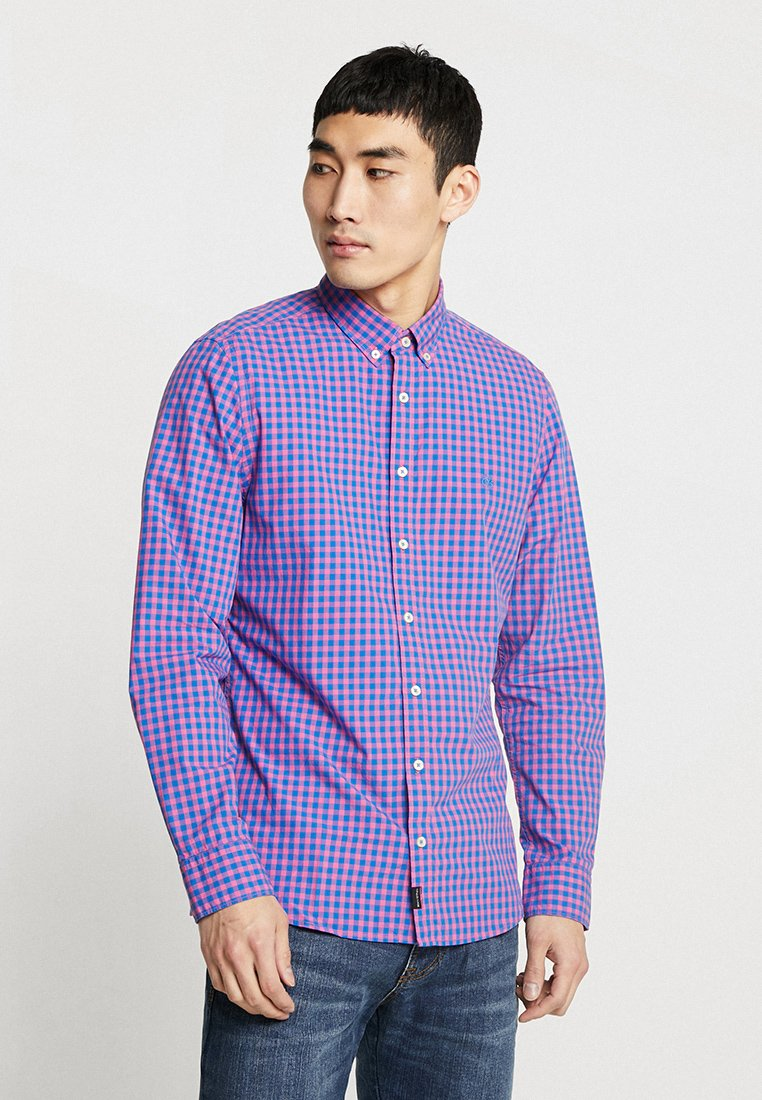 Marc O'Polo - BUTTON DOWN LONG SLEEVE STITCHED SHAPED FIT - Shirt - lila