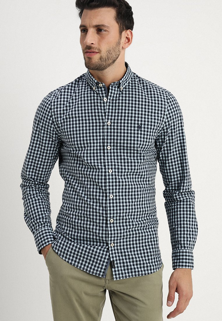 Marc O'Polo - BUTTON DOWN LONG SLEEVE STITCHED SHAPED FIT - Shirt - combo