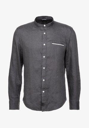 BAND COLLAR LONG SLEEVE WELT POCKET - Vapaa-ajan kauluspaita - gray