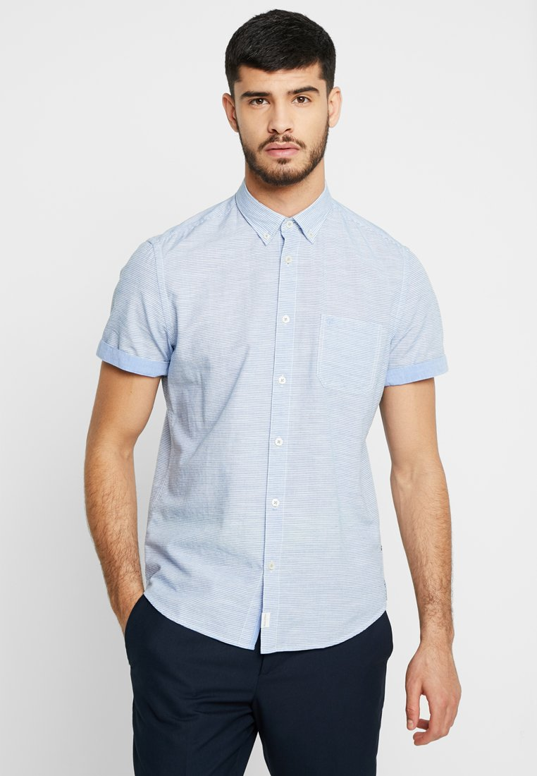 Marc O'Polo - BUTTON DOWN SHORT SLEEVE ONE CHEST - Camisa - blue