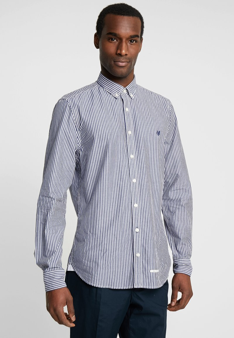 Marc O'Polo - BUTTON DOWN LONG SLEEVE STITHED GEN - Skjorter - combo