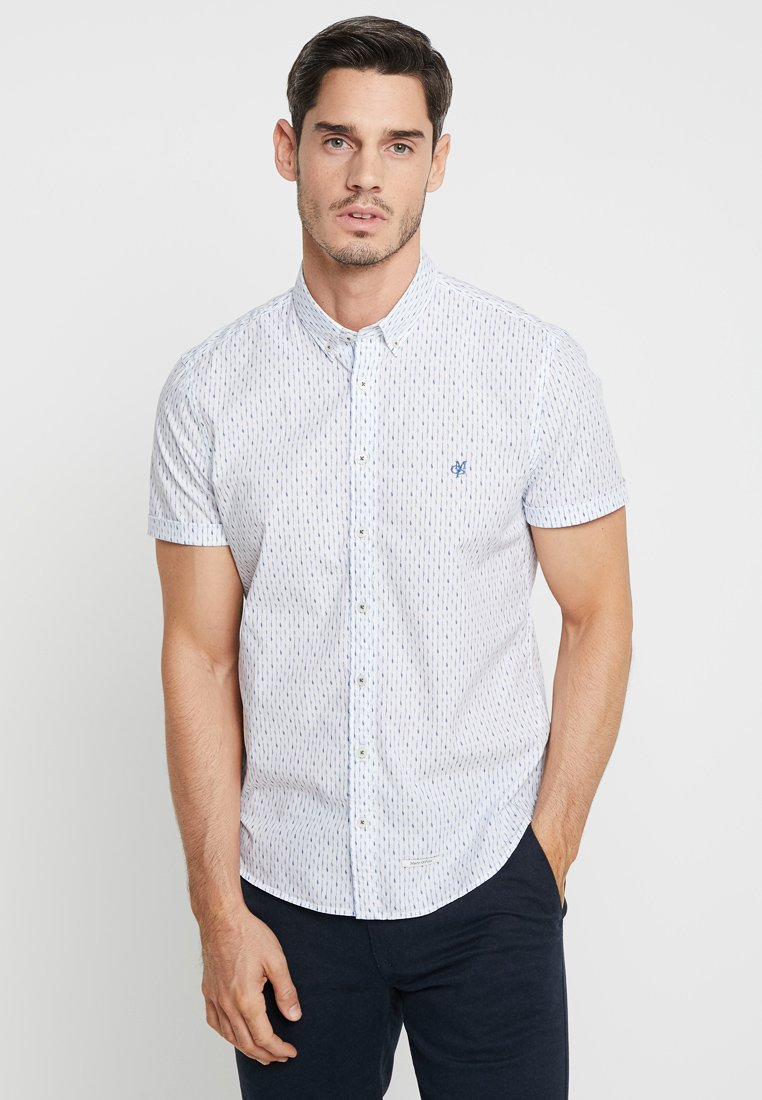 Marc O'Polo - BUTTON DOWN SHORT SLEEVE TURNED UP - Shirt - white