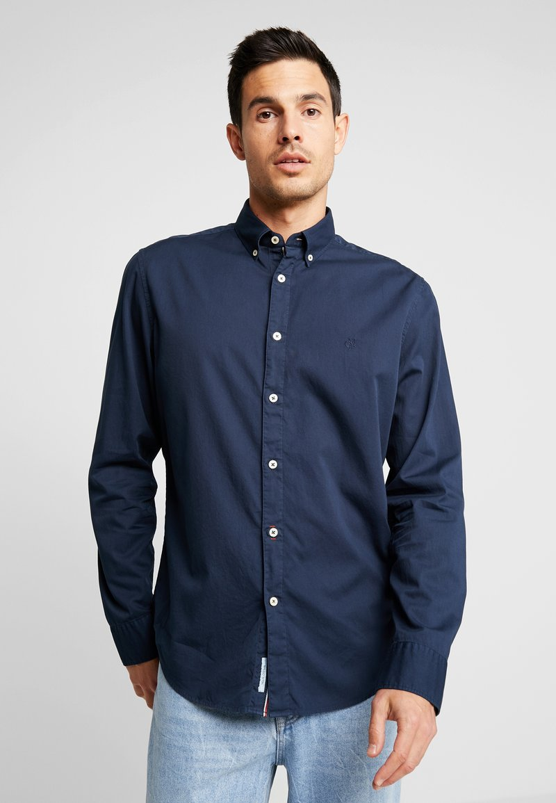 Marc O'Polo - BUTTON DOWN LONG SLEEVE - Camisa - total eclipse