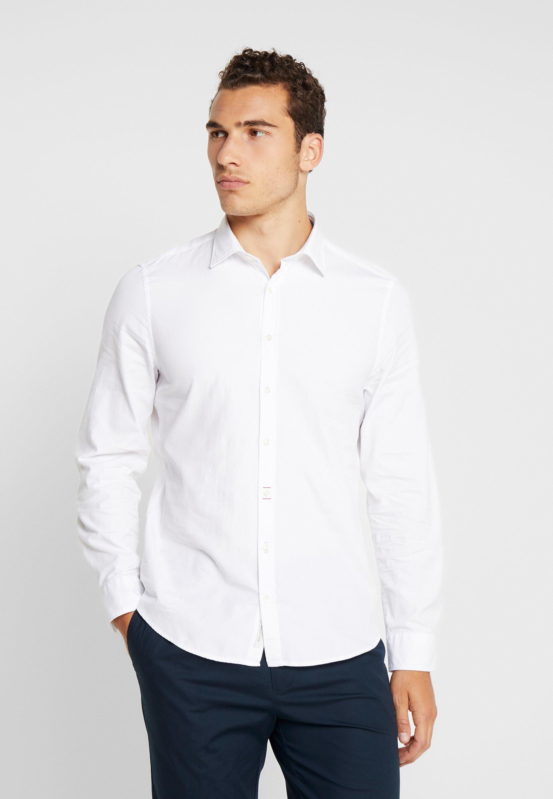 Marc O'Polo CAMBRIDGE SHAPED FIT KENT COLLAR - Koszula - white