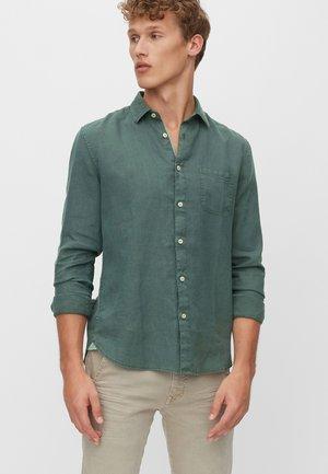 CHEMISE À MANCHES LONGUES DE COUPE REGULAR - Koszula - dark green