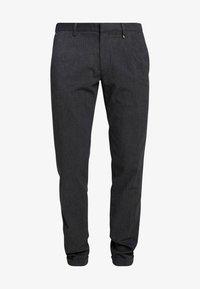 Marc O'Polo - CLEAN WITH TURNUP DARTS  - Pantalon classique - dark grey melange - 3
