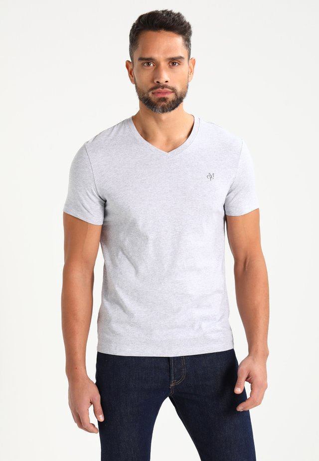 BASIC V-NECK - T-shirts basic - grey