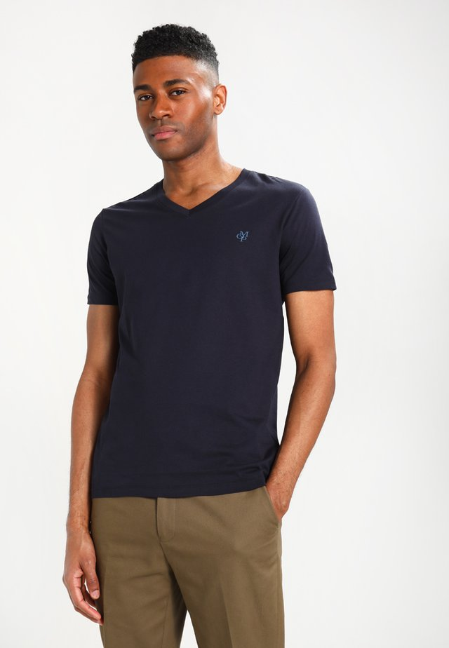 BASIC V-NECK - T-Shirt basic - navy