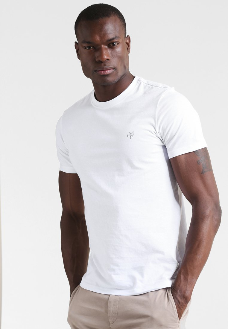 Marc O'Polo - C-NECK - T-paita - white