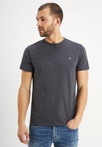 Marc O'Polo - C-NECK - Basic T-shirt - gray pinstripe - 0