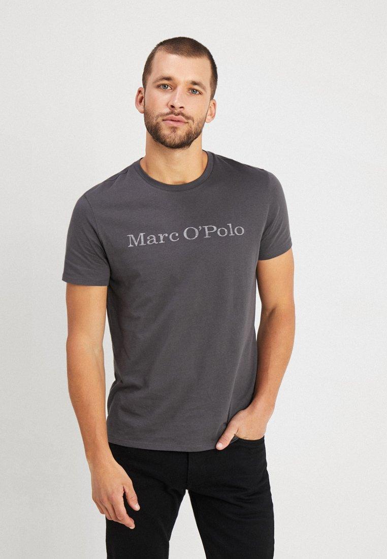 Marc O'Polo - BASIC SINGLE - T-Shirt print - gray pinstripe