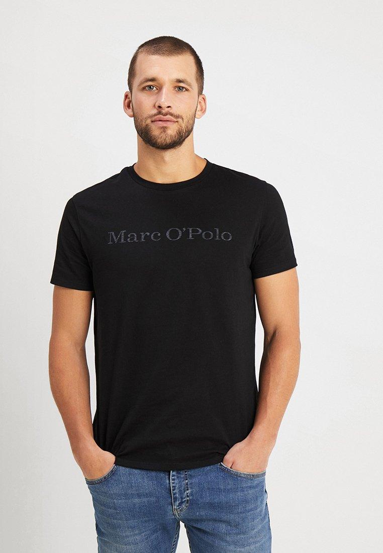 Marc O'Polo - BASIC SINGLE - Print T-shirt - black