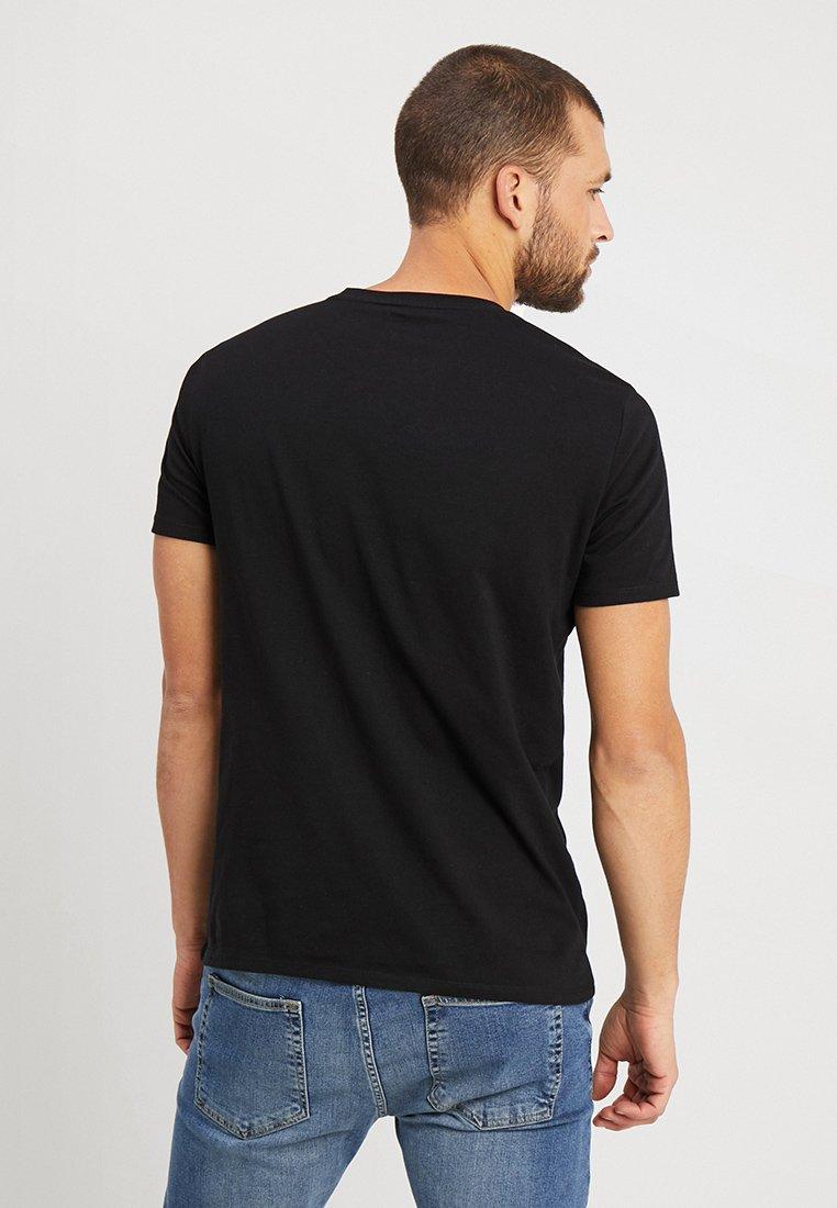 Marc O'Polo BASIC SINGLE - T-shirt z nadrukiem - black