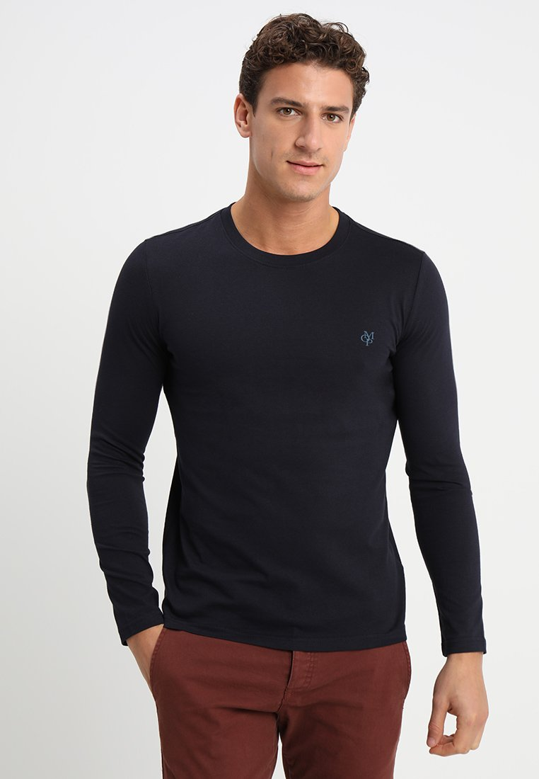 Marc O'Polo - LONG SLEEVE ROUND NECK - Long sleeved top - deep ocean