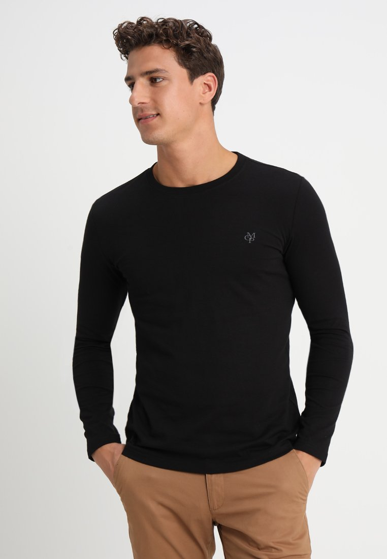 Marc À Sleeve Longues Manches NeckT shirt Round Long O'polo Black HIWeED9Y2