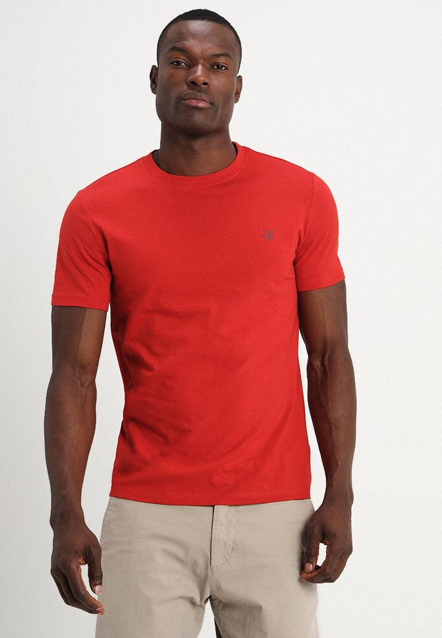 SHORT SLEEVE ROUND NECK - T-shirt basique - pompeian red
